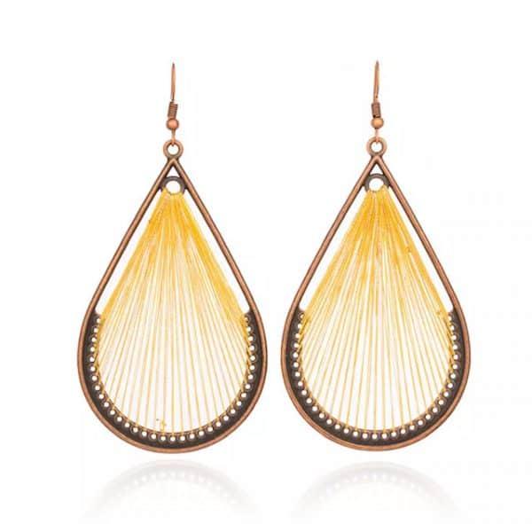 FANFARE Earrings Natural Bead 8