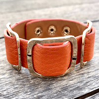 Safari Nights Burnt Orange Cuff Bracelet