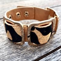 Safari Nights Leopard Print Cuff Bracelet