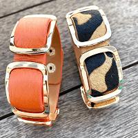 Safara Nights Mixed Leather Cuff Bracelets