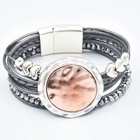 Battered Copper Cuff Bracelet