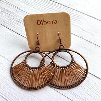 Fanfare Round Earrings in amber