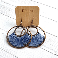 Fanfare Round Earrings in blue