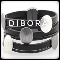 Gladiator Black leather cuff bracelet