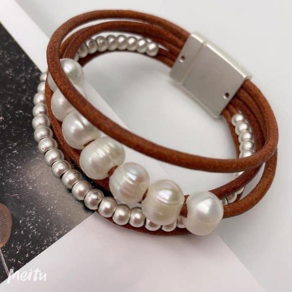 BILLIE Cuff Bracelet - Brown 1