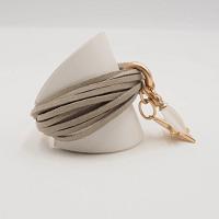 Star Suede cuff Bracelet in Beige