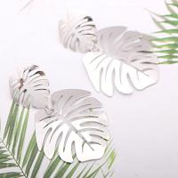 Silver Metal Flower Drop Earrings
