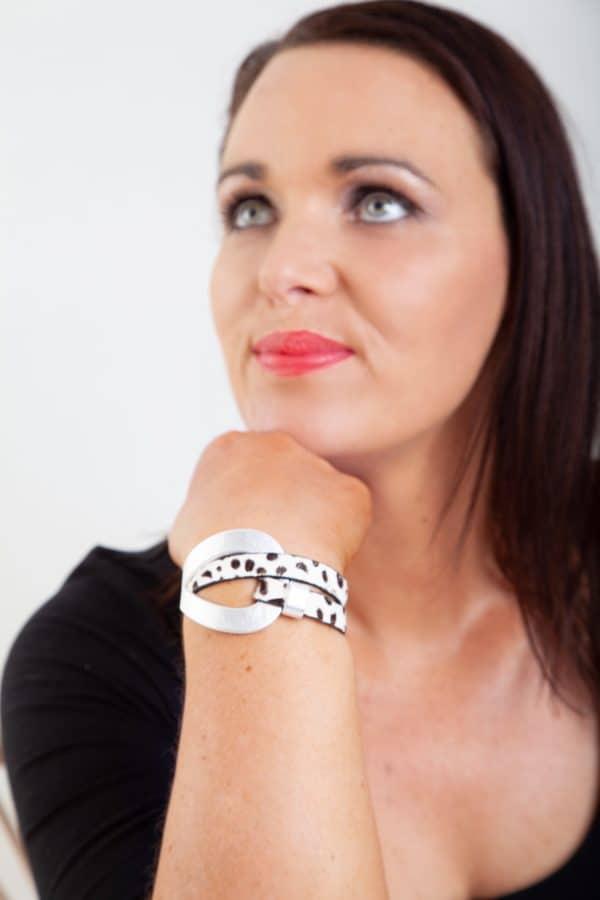 ANASTASIA Bracelet - Black/White Animal Print 5