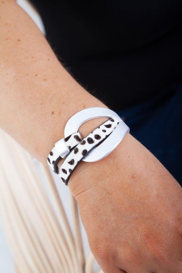 ANASTASIA Bracelet - Black/White Animal Print 6
