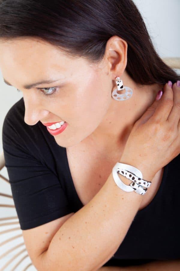 CLEO Earrings (Brown Animal Print) 5