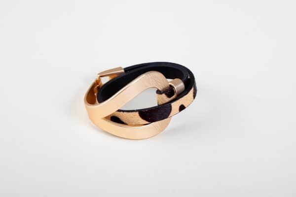ANASTASIA Bracelet - Black/White Animal Print 10