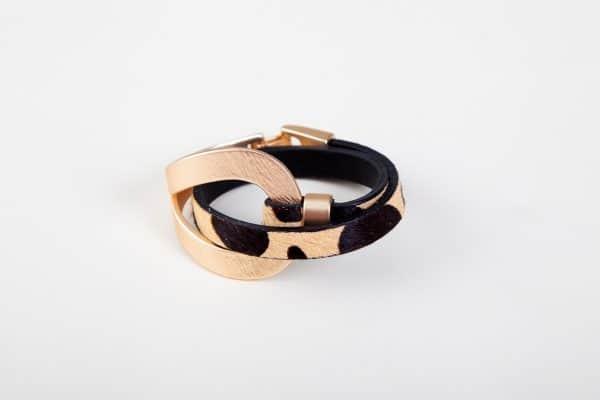 ANASTASIA Bracelet - Black/White Animal Print 9