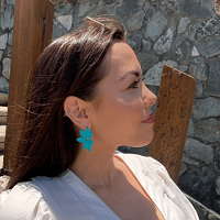 Large Jade Flower Earring