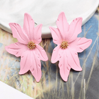 Large Flower Earring Pink