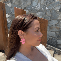 Large Flower Earring Pink
