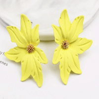 Large Flower Earring Yellow