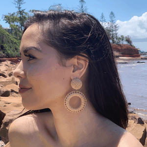 KATY Earrings - Beige 1