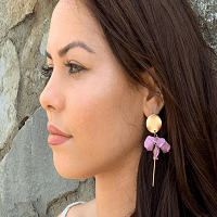 Fair Natural Earring in Lilac and Gold