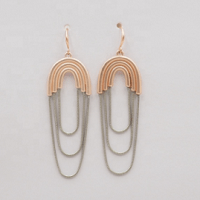 Serenity Drop Rose Gold Earrings