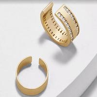 Ear Cuffs Gold Diamonte (2 cuffs one diamonte, one plain) 1