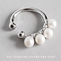 Dibora Sterling Silver Cuff Pearl Earring
