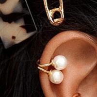 Ear Cuffs pearl stud (pk 2) 2