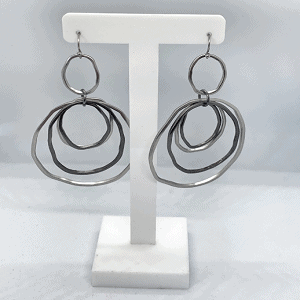 NIKKI Drop Earrings - Silver 1