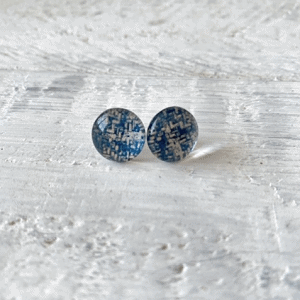 Cabochon Glass Stud Earrings - Neutral 1 10