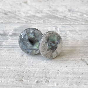 Cabochon Glass Stud Earrings - Neutral 1 16