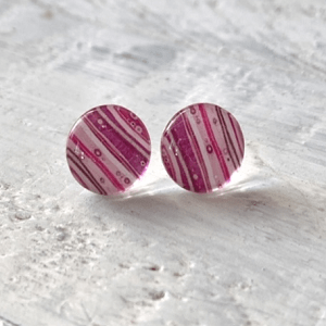 Cabochon Glass Stud Earrings - Neutral 1 15