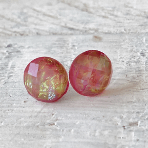 Cabochon Glass Stud Earrings - Animal 3 13