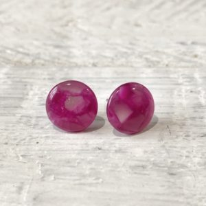 Cabochon Stud Earrings 9