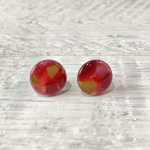 Cabochon Stud Earrings 10