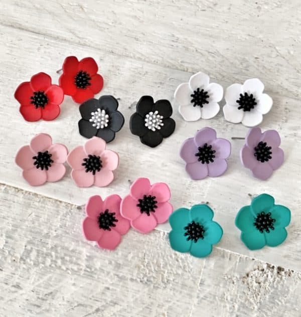ASTER Stud Earrings - 9 Colour Options 1