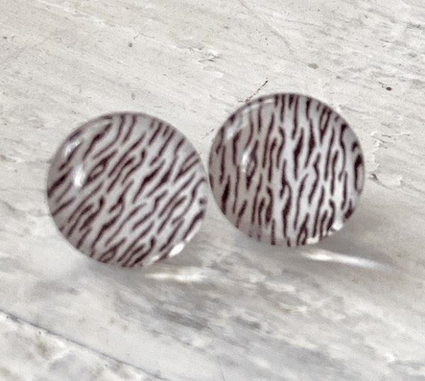 Cabochon Glass Stud Earrings - Animal 3 1