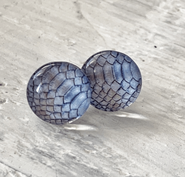 Cabochon Glass Stud Earrings - Animal 3 23