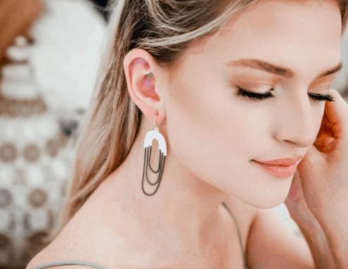 SERENITY Earrings - Rose Gold 4