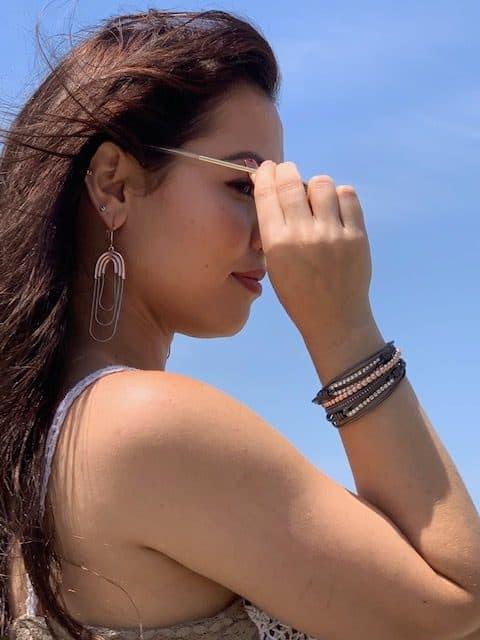 SERENITY Earrings - Rose Gold 2