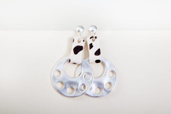 CLEO Earrings (Brown Animal Print) 3