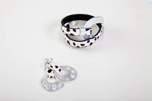 CLEO Earrings (Brown Animal Print) 4