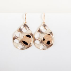 ELLIE Drop Earrings Brown