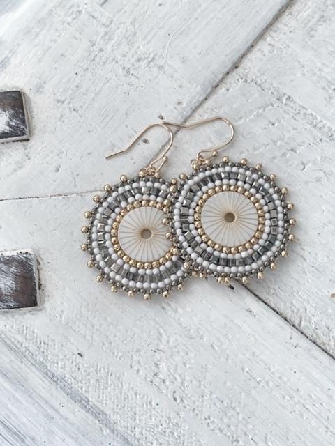 ISLA Double Earrings - Pewter 3