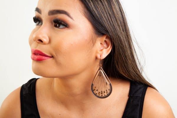 FANFARE Earrings Natural Bead 1