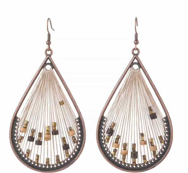 Fanfare Earrings Natural Bead