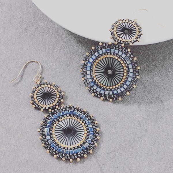 ISLA Double Earrings - Pewter 1