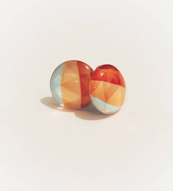 Cabochon Stud Orange 1
