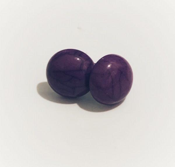 Cabochon Stud Purple