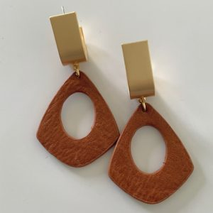 ZOE Earrings Tan