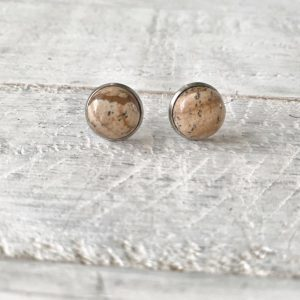 Cabochon Stud Earrings 6