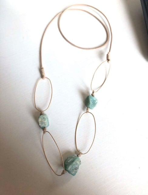 ALAINE Gemstone Bracelet - Pink Quartz 1